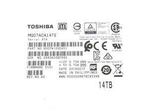 Toshiba Enterprise Capacity HDD 14TB