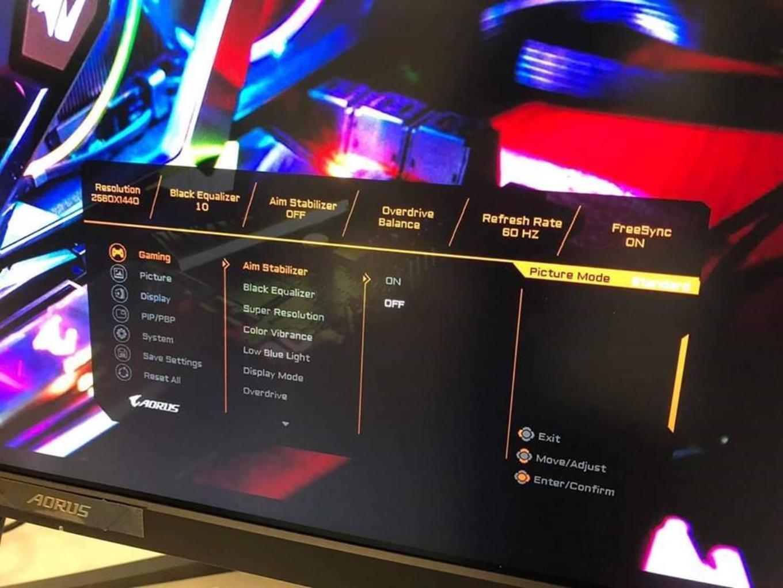 Gigabyte wird AORUS-Monitor mit 10 Bit, 144 Hz und FreeSync