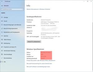 Microsoft Windows 10 Version 1809 Build 17763.1