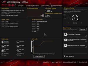 Die UEFI-EZ-Oberfläche beim ASUS ROG Crosshair VII Hero