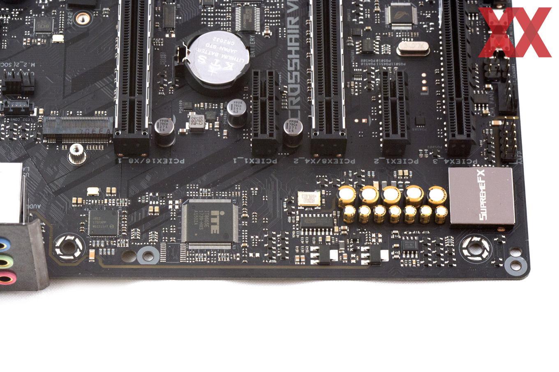 Onboard-Sound, SuperI/O-Controller und LAN-Chip auf einem Bild.