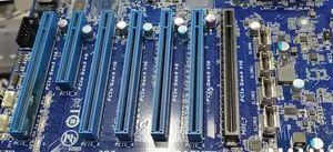 Mainboard mit PCI-Express-4.0-Steckplätzen (Bild: Anandtech)