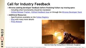 Vulkan-API mit Raytracing