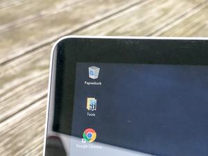 Microsoft spricht von ultradünn, tatsächlich ist der Display-Rahmen aber nur etwas schmaler als üblich