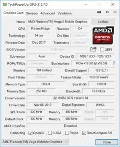 Dank Vega-8-GPU ist der Ryzen 5 2500U den direkten Intel-Konkurrenten in puncto Grafikleistung klar überlegen