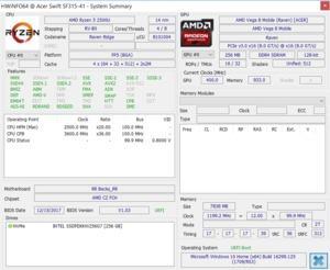 AMD Ryzen 5 2500U auf einen Blick