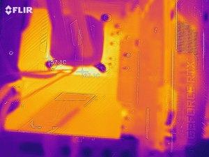Wärmebild vom VRM-Bereich beim ASUS ROG Strix Z590-F Gaming WiFi