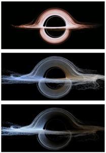Simulation der Darstellung eines schwarzen Lochs mittels DNGR