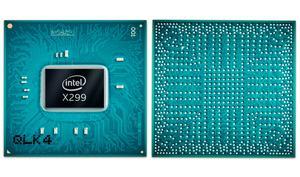 Der X299-Chipsatz: Vorder- und Rückseite (BGA).