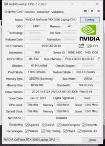 GPUz und CPUz des MSI GS66 Stealth 10UH