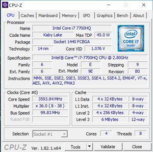 GPUz und CPUz zum MSI GS73VR 7RG Stealth Pro