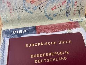 Reisepass mit US-Visum