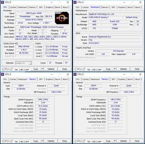 links oben: CPU-Overclocking; links unten: RAM-OC mit XMP; rechts unten: RAM-OC ohne XMP