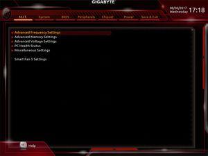 Der UEFI-Advanced-Mode beim Gigabyte X399 AORUS Gaming 7.