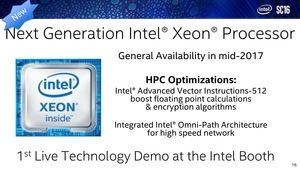 Intel auf der Supercomputing 2016