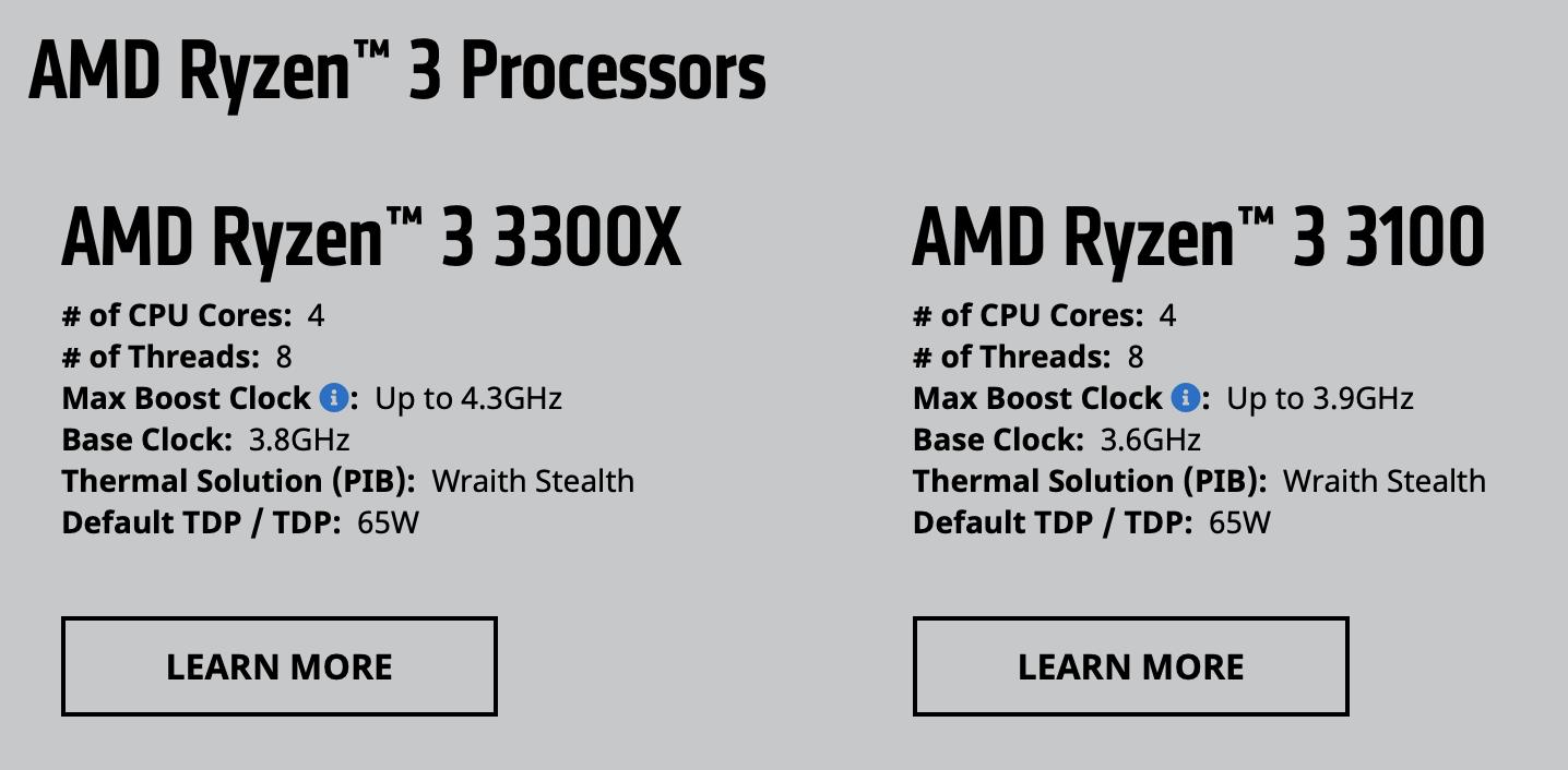 AMD Ryzen-3-Serie der 3. Generation