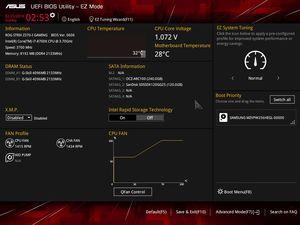 Die UEFI-EZ-Oberfläche beim ASUS ROG Strix Z370-I Gaming