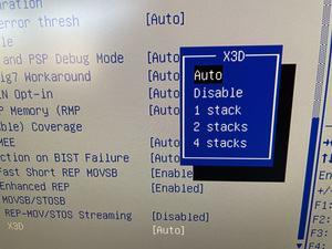 X3D-Stacking im BIOS eines EPYC-Servers