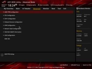 BIOS: ASUS ROG STRIX B350-F Gaming