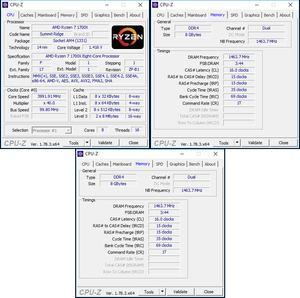 oben links: CPU-Overclocking; oben rechts: RAM-OC mit A-XMP; unten: manuelles RAM-OC