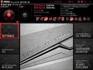 Der UEFI-Advanced-Mode beim MSI X370 XPower Gaming Titanium.