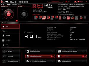 Der UEFI-EZ-Mode beim MSI X370 XPower Gaming Titanium.