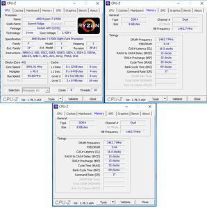 oben links: CPU-OC; oben rechts: RAM-OC mit XMP, unten: manuelles RAM-OC