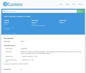 DCMA-Complaint Windows 11