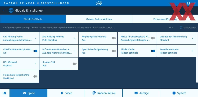 Neuer Treiber für die Core-Prozessoren mit Radeon RX Vega M