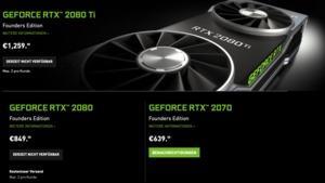 Liefersituation der GeForce-RTX-Karten bei NVIDIA