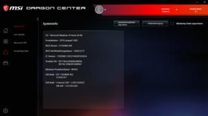 Die Software des MSI GT76 Leopard 10UE
