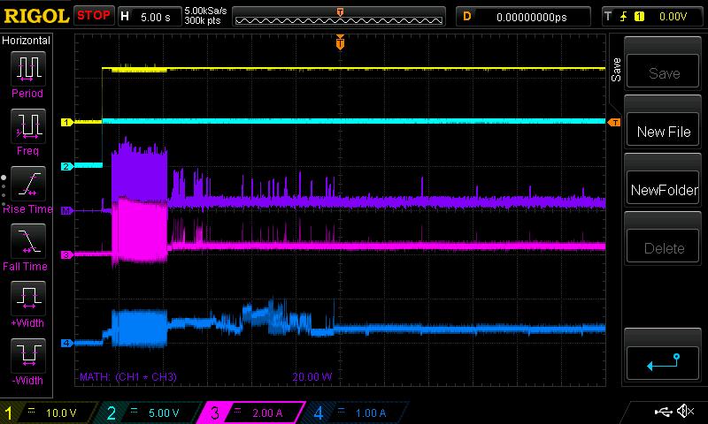 elektrische Leistungsmessung der Seagate EXOS X14 14TB