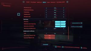 Cyberpunk 2077 - Einstellungen