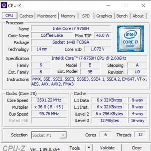 GPUz und CPUz des Gigabyte Aero 15 OLED