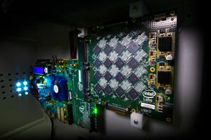 Intel Nahuku-Board mit Loihi-Chips