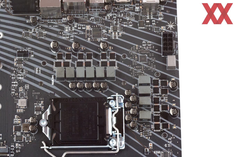 Zehn Spulen kümmern sich um die Coffee-Lake-S-CPU.