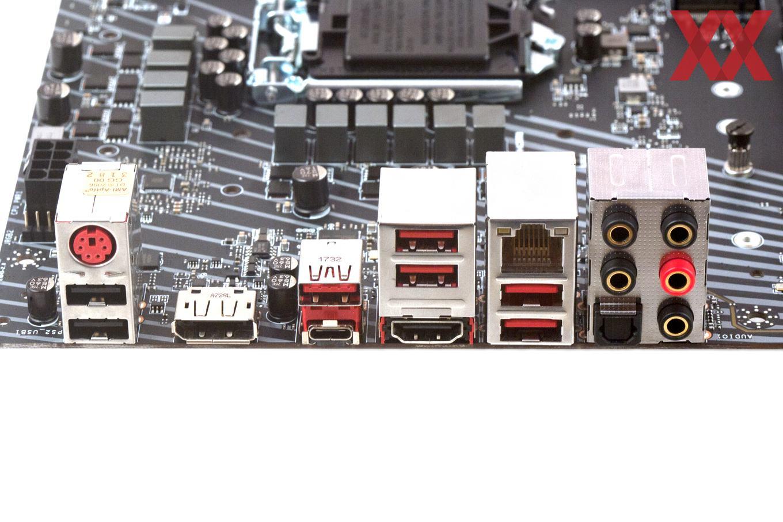 Das I/O-Panel beim MSI Z370 Gaming Pro Carbon (AC).