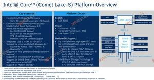 Informationen zu Comet Lake-S