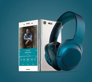 Sony Xperia XZ Premium mit h.ear on Wireless-Kopfhörer