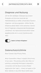 Bose Connect für iOS