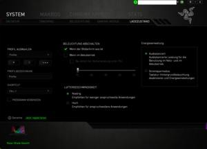 Die Software des Razer Blade Stealth