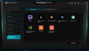 Die Software des Acer Predator Helios 300 PH315