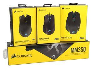 Corsair Harpoon RGB Wireless, Ironclaw RGB und M65 RGB Elite