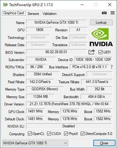 NVIDIA GeForce GTX 1080 Ti Founders Edition GPU-Z-Screenshot