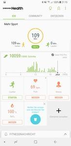 Wer alle Fitnessfunktionen der Samsung Gear Fit2 Pro nutzen will, kommt um S Health und weitere Apps nicht herum