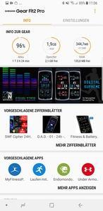 Auch die Samsung Gear Fit2 Pro benötigt für den vollen Funktionsumfang eine Companion-App