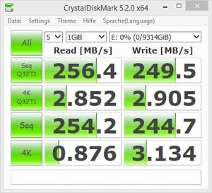 Seagate ST10000DM0004 - CrystalDiskBenchmark