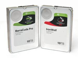 Seagate BarraCuda Pro 10TB und IronWolf 10TB