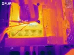 Wärmebild vom VRM-Bereich beim NZXT N7 Z590