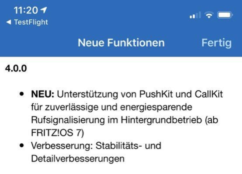 Fritz App Fon Beta